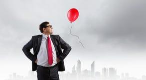 Zekere zakenman Het beeld van het concept stock afbeelding