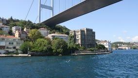 Zeki Pasha Mansion Istanbul kanal, Rumeli fästning, Turkiet arkivbild