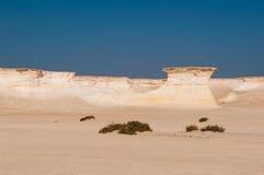 Zekreet沙漠,多哈,卡塔尔 图库摄影