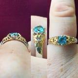 Takaya's Custom Jewelry ring royalty free stock photography
