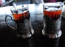 Zeldzame glazen en onderleggers voor glazen van de USSR Stock Afbeelding