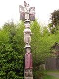 Zeldzame inheemse totempaal Van Alaska Stock Afbeelding