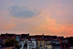 Zeldzame mening van slechte huisvesting in Brussel Stock Foto's