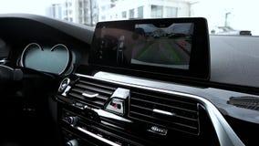 Zeldzame meningscamera in auto stock videobeelden