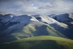 Zeldzame Sneeuw op de helling van MT Hamilton in de Vroege Lente royalty-vrije stock foto's