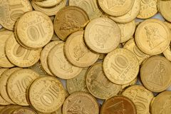 Zeldzame verjaardag 10 roebelsmuntstukken Stock Afbeelding