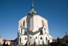 Zelena Hora, Czech republic. Church St. John of Nepomuk in Zelena Hora near Zdar nad Sazavou, Czech republic Royalty Free Stock Photo