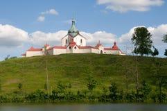 Zelena Hora, Czech republic. Church St. John of Nepomuk in Zelena Hora near Zdar nad Sazavou, Czech republic Stock Image