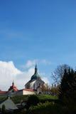 Zelena Hora nära Zdar nad Sazavou Arkivbilder
