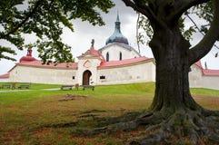 Zelena Hora près de Zdar NAD Sazavou, République Tchèque Image libre de droits