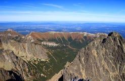 Zeleneho plesa dolina, Belianske Tatras i Kezmarsky, osiągamy szczyt Obraz Royalty Free