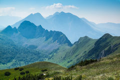 Zelengora mountains. View from Ugljesin peak at Sutjeska National Park Royalty Free Stock Photography