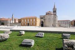 Zeleni quadrato Dalmazia zadar Croazia Europa Immagini Stock