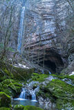 Zeleni vir, big waterfall, Croatia Royalty Free Stock Photos