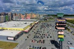 Zeleniy Bereg购物中心在秋明州 俄国 库存图片