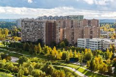 16 Zelenograd市microdistrict在莫斯科,俄罗斯 库存照片