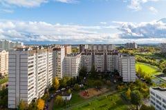 16 Zelenograd市microdistrict在莫斯科,俄罗斯 免版税库存图片