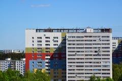 Zelenograd管理区域,莫斯科顶视图的两个砖房子  免版税库存照片