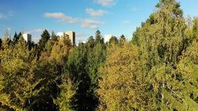Zelenograd är det ekologiskt rena området av Moskva i Ryssland lager videofilmer