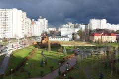 Zelenograd prima della tempesta Fotografia Stock Libera da Diritti