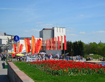 Zelenograd, Russia - May 09.2016. Celebrating Victory day on  central square Royalty Free Stock Image
