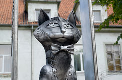 ZELENOGRADSK, RUSSIA. Monument to the Zelenograd cats, fragment Royalty Free Stock Photography