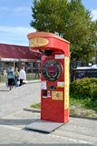 ZELENOGRADSK, RUSSIA. The Rocky boxer gaming machine costs on the street. Kaliningrad region stock photo