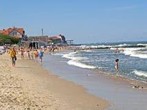 Zelenogradsk, Russie La plage de ville sur la banque de la mer baltique Photo stock