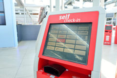 Zelf - controle - in kiosk Royalty-vrije Stock Afbeeldingen