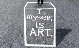 ZELF EN ART. Stock Fotografie