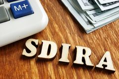 Zelf Geleid IRA - de houten brieven van SDIRA stock foto