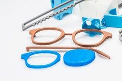 Zelf ontworpen en 3D gedrukte glazen Royalty-vrije Stock Afbeeldingen