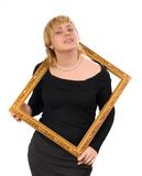 Zelf-verzekerde vrouw Royalty-vrije Stock Foto's