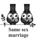 Zelfde geslachtshuwelijk royalty-vrije illustratie