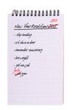 Zelfde nieuwe jaarresoluties - ge?soleerdt van hem, Stock Fotografie