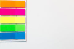 Zelfklevende gekleurde stroken Stock Foto's