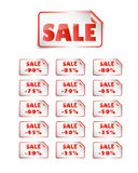 Zelfklevende verkoop Stock Foto