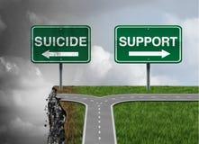 Zelfmoord en steun vector illustratie