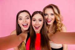 Zelfportret van het charmeren, funky, aardige, aantrekkelijke, mooie meisjes royalty-vrije stock foto's