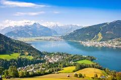 Zell上午美丽的景色看见,奥地利 图库摄影