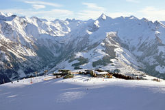 Zell Am See Ski Resort In The Austrian Alps Royalty Free Stock Photos