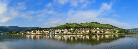 Zell en panorama för derMosel sommar Royaltyfri Fotografi