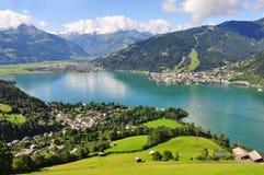 Zell f.m. ser, Salzburger land, Salzburg, Österrike Royaltyfria Bilder