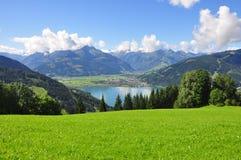 Zell f.m. ser, Salzburger land, Salzburg, Österrike Arkivfoto