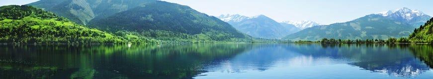 Zell lake, zell am zee, austria stock photography