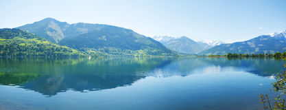 Zell lake, zell am zee, austria Royalty Free Stock Photography