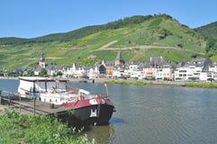 Zell Mosel dal, Tyskland Royaltyfri Fotografi