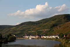 Zell at Mosel river, Germany Stock Photography