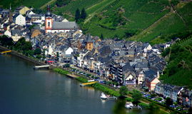 Zell on the Mosel River Royalty Free Stock Photography