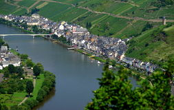 Zell on the Mosel River Stock Images
